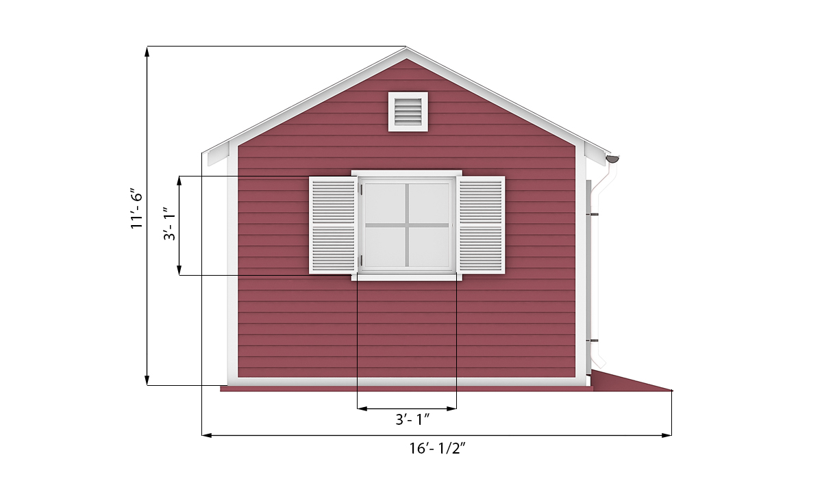 12x20 garden shed side preview