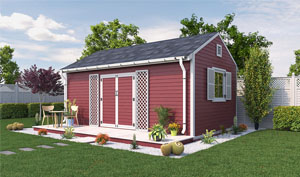12x20 gable garden shed plans