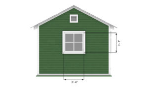 12x24 garage shed back side preview