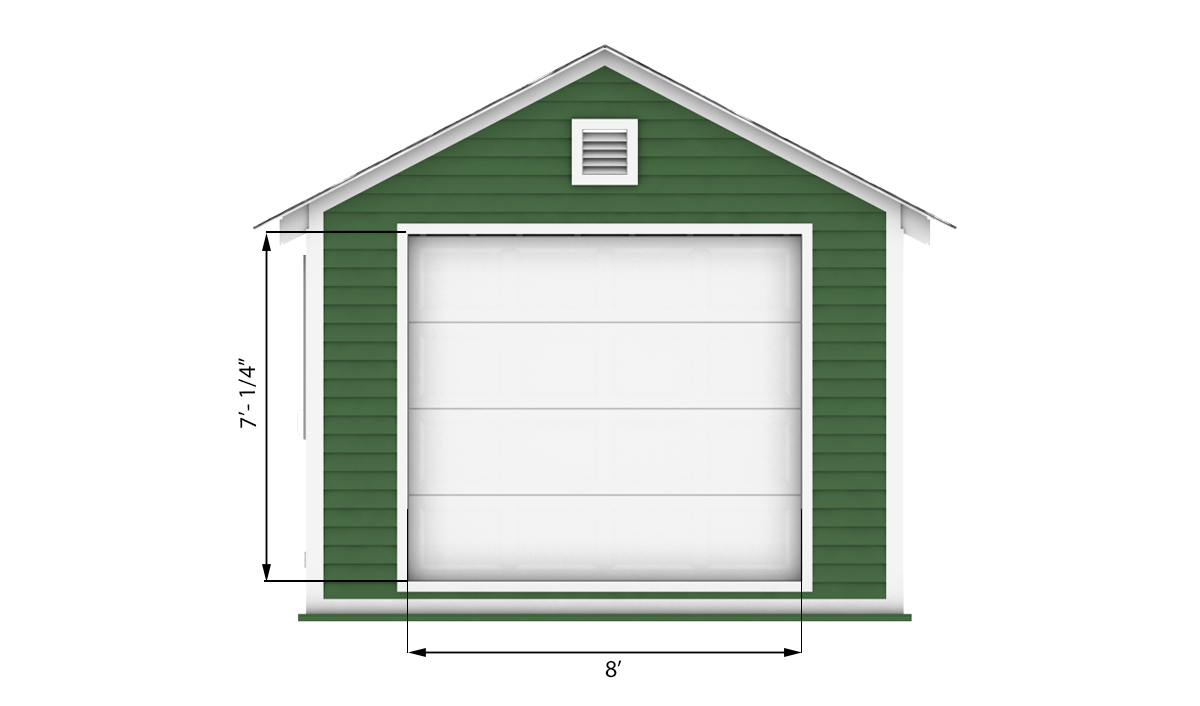 12x24 garage shed front side preview