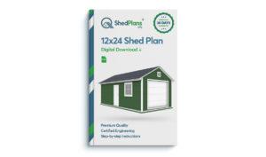 12x24 garage shed plan