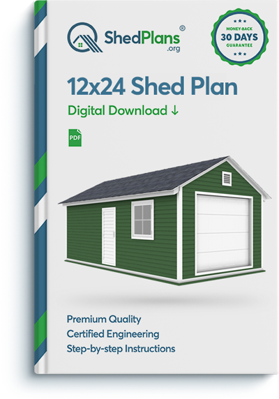 12x24 garage shed plan