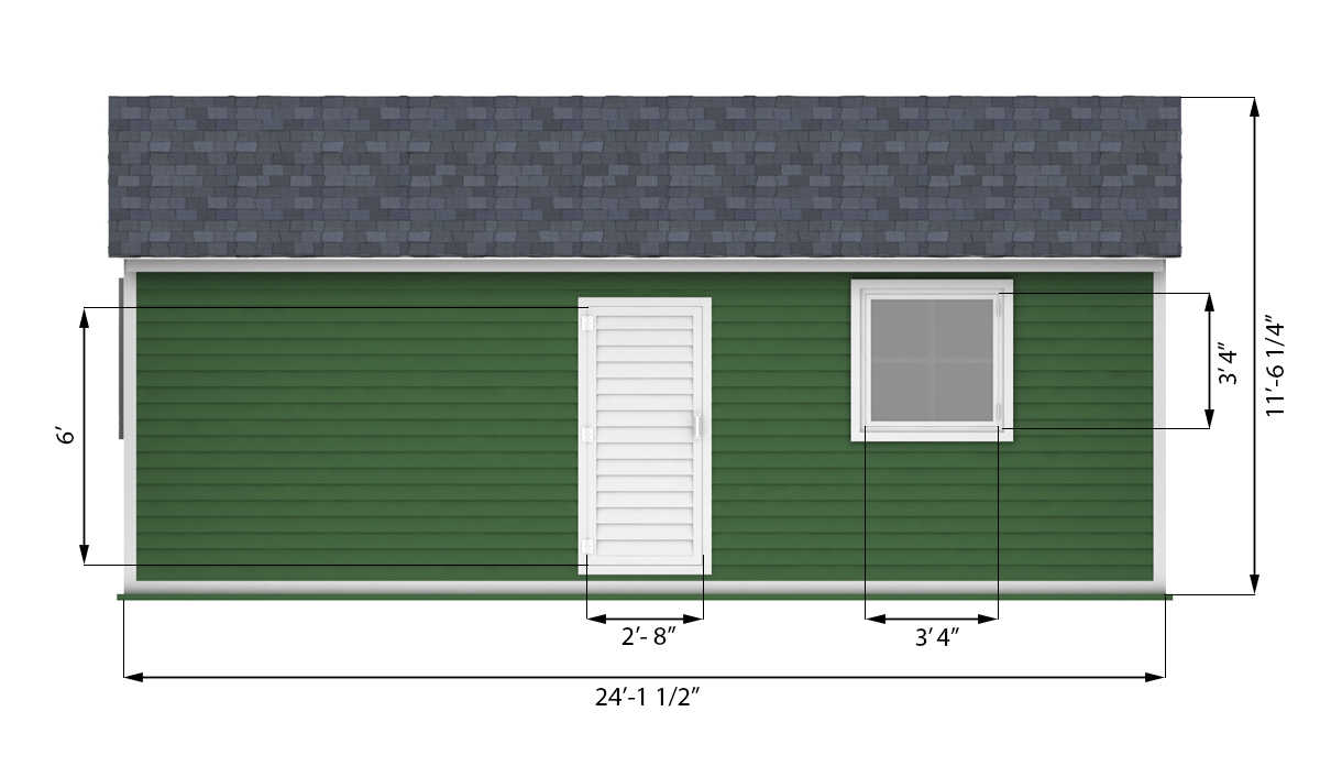 12x24 garage shed side preview
