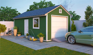 12x24 gable garage shed plans
