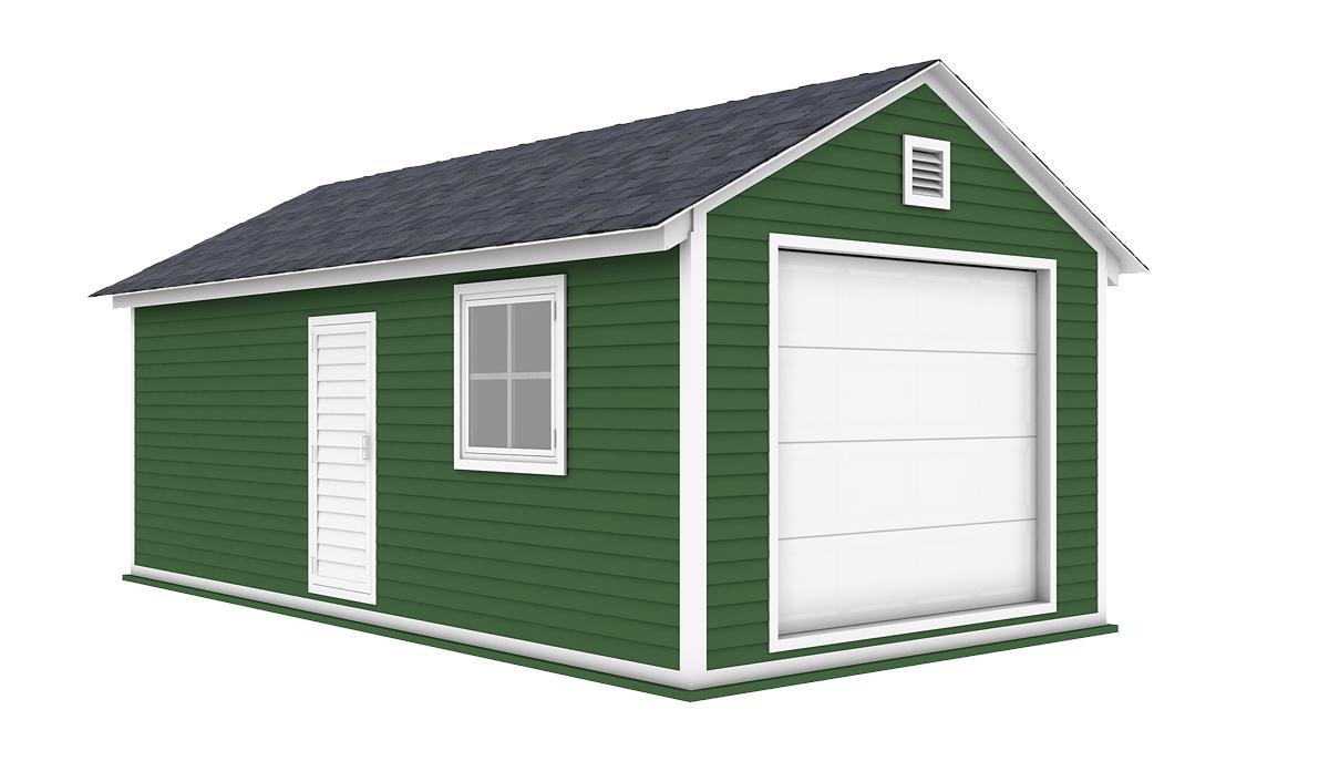 12x24 garage shed