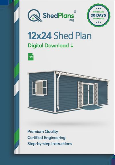12x24 garden shed plan