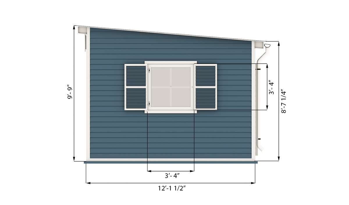 12x24 garden shed side preview