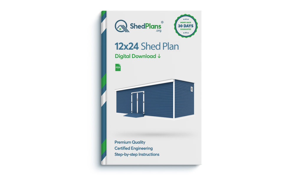 12x24 storage shed plan