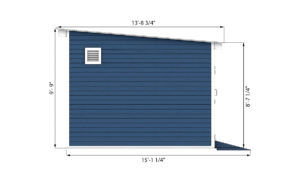 12x24 storage shed side preview