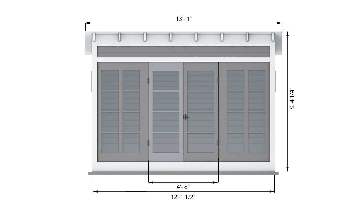 12x6 garden shed front side preview