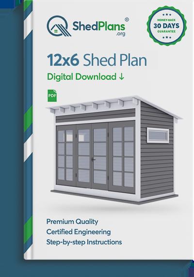12x6 garden shed plan