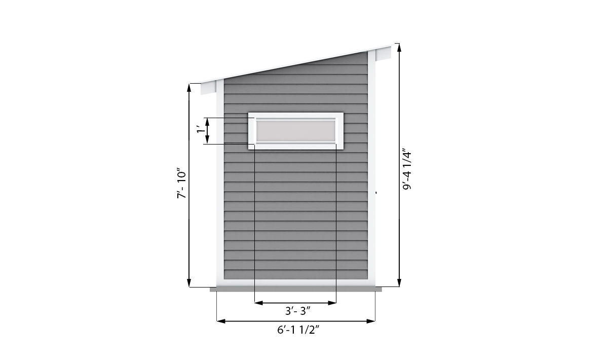 12x6 garden shed side preview