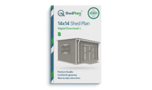 14x14 garden shed plan