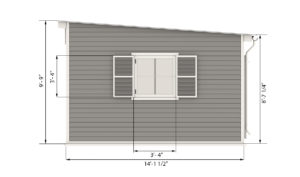 14x14 garden shed side preview
