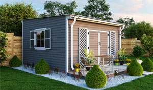 14x14 lean-to garden shed plans