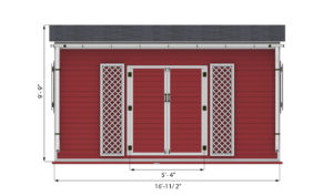 14x16 lean to garden shed front side preview