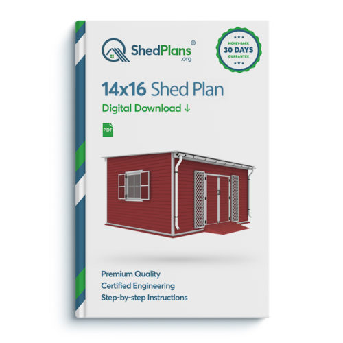 14x16 lean to garden shed plan