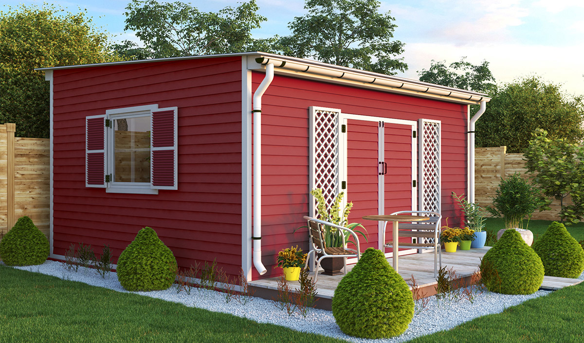 14x16 lean to garden shed preview