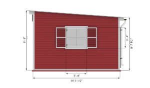 14x16 lean to garden shed side preview
