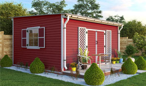 14x16 lean-to garden shed plans