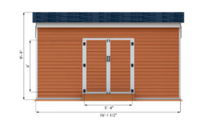 14x16 storage shed front side preview