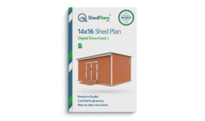 14x16 storage shed plan