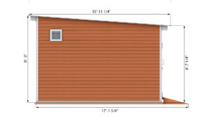 14x16 storage shed side preview