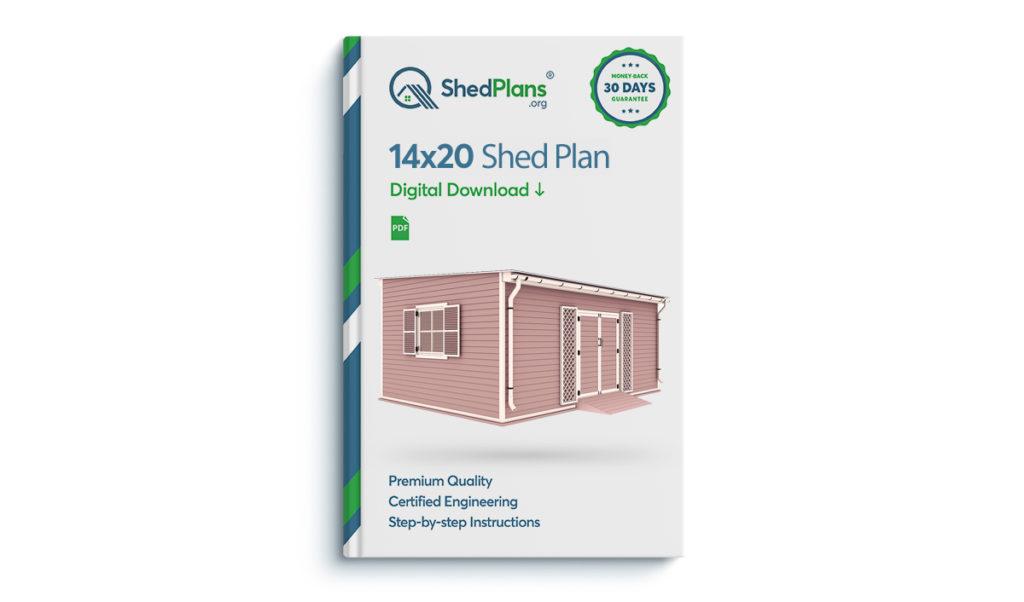 14x20 garden shed plan