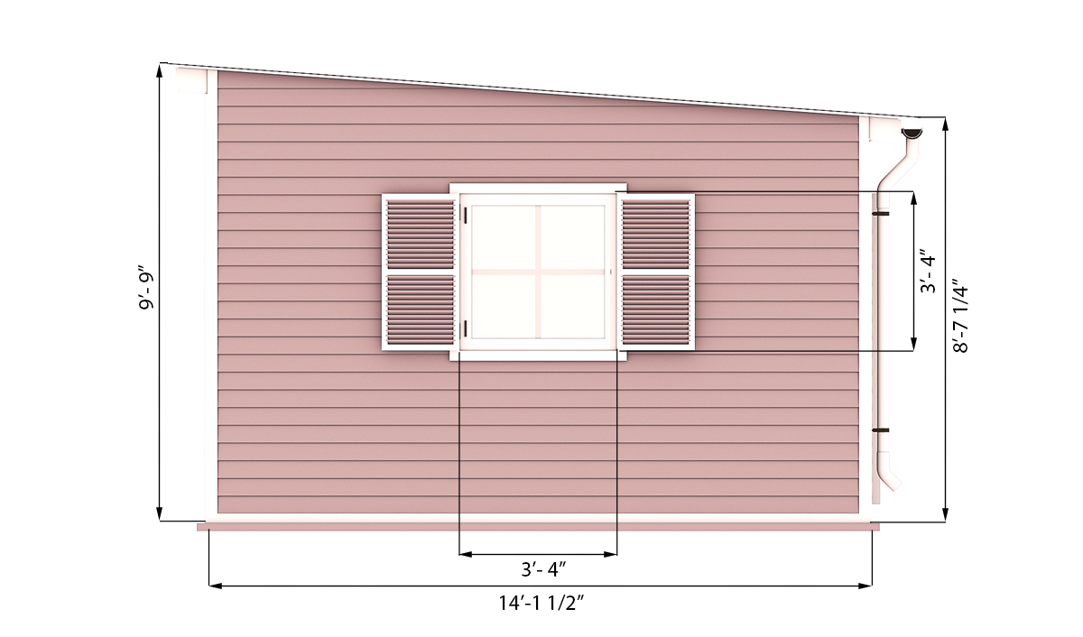 14x20 garden shed side preview