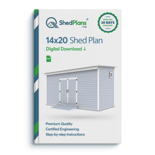 14x20 storage shed plan