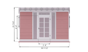 14x8 garden shed front side preview