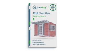 14x8 garden shed plan
