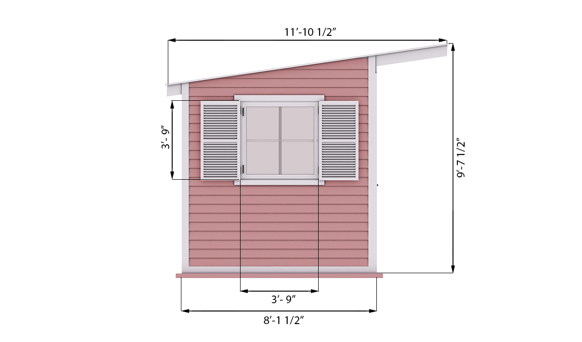14x8 garden shed side preview