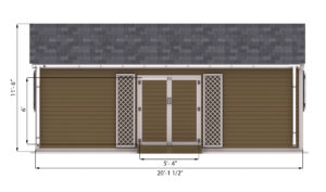 16x20 Garden Shed Front Side Preview