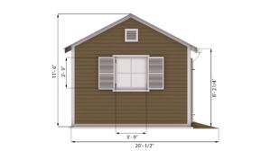 16x20 Garden Shed Side Preview