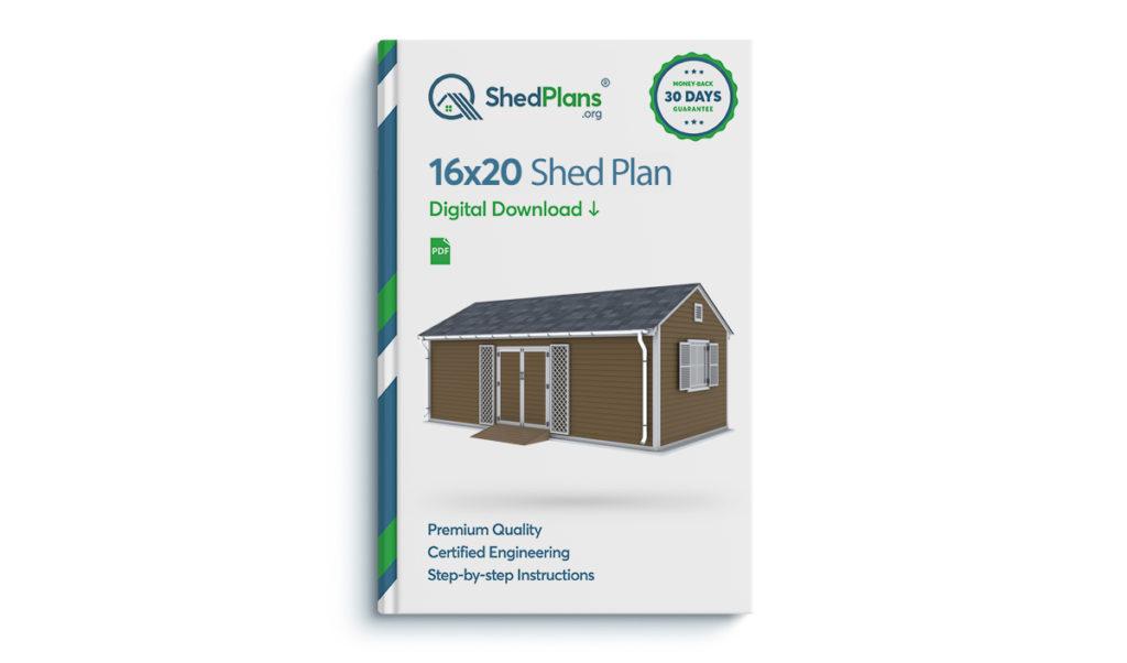 16x20 Garden Shed plan