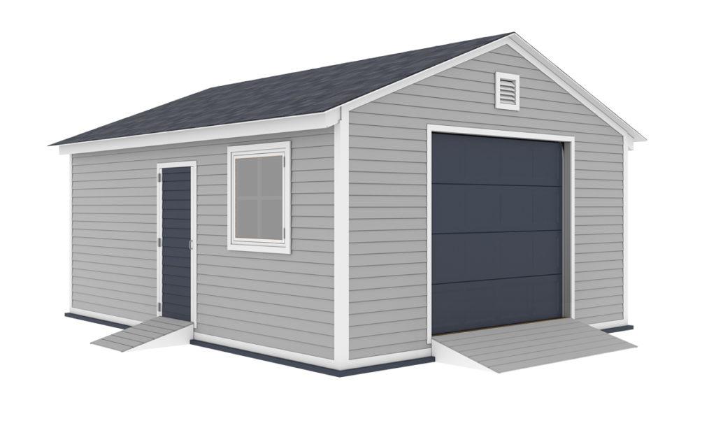 16x20 garage shed