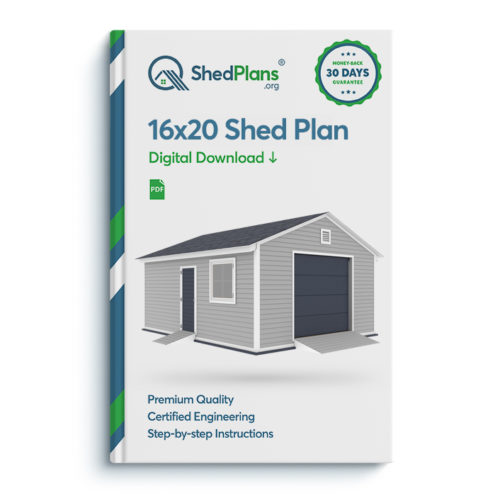 16x20 garage shed plan