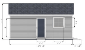 16x20 garage shed side preview
