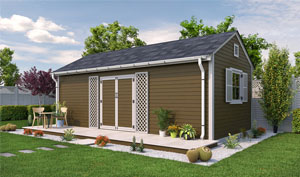 16x20 gable garden shed plans