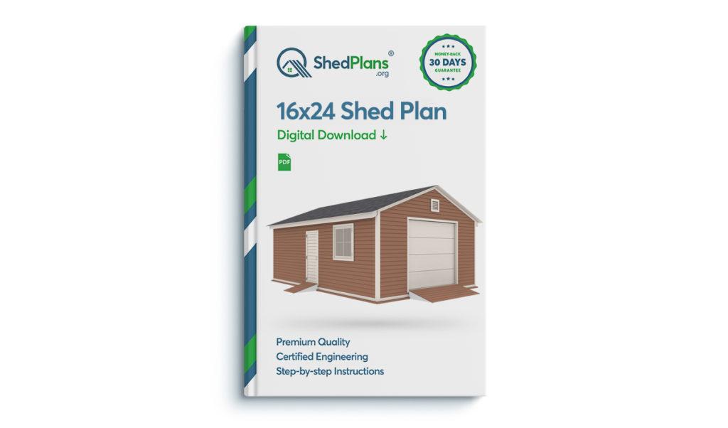 16x24 garage shed plan