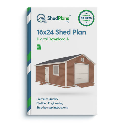 16x24 garage shed plan