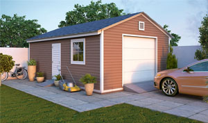 16x24 gable garage shed plans