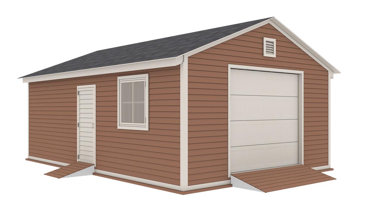 16x24 garage shed