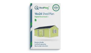 16x24 garden shed plan