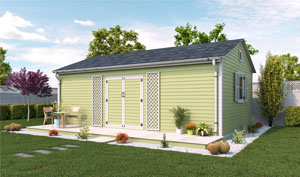 16x24 gable garden shed plans