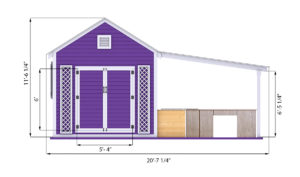 20x10 Garden shed front side preview