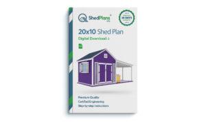 20x10 Garden shed plan