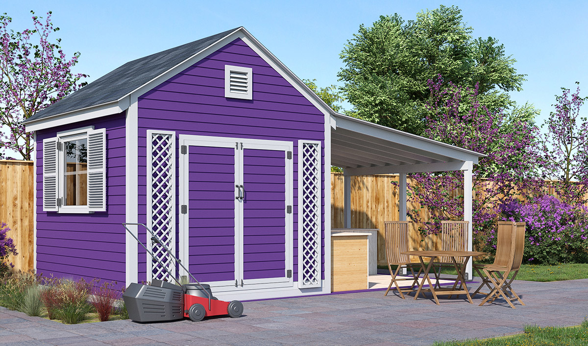 20x10 Garden shed preview