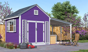 20x10 gable garden shed plans